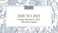 2020 to 2021 Prayer Exchanges