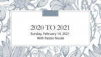 2020 to 2021: Prayer